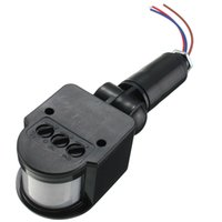 Wholesale Vacuum Transducer Sensor - New Outdoor Wall Light Lamp LED PIR Infrared Motion RF Switch Sensor Detector 12M AC85V~260V 2 Colors Automatic Convenient Safe