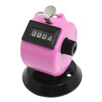 Wholesale Tally Counter Pink - Wholesale- MYLB-Golf Pitch 4 Digit Number Clicker Hand Held Tally Counter Black Pink