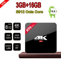 Wholesale 3gb ram tv box for sale - Group buy H96 Pro Amlogic S912 bit OctaCore Android7 TV Box G RAM G ROM Bluetooth Dual Band WIFI D K UP