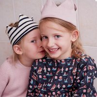 Wholesale Kids Fashion Crochet - New Arrival Children's Fashion Woolen Caps Girl's Cute design Hats Preschool Kids Brands caps Christmas gift for little baby girls CK503
