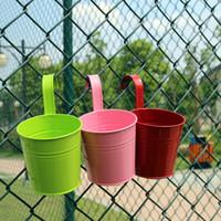 flores de jardim de ferro venda por atacado-Mini barris de flor de ferro de suspensão de alta qualidade não facilmente deformado jardim pote prático vaso criativo recipiente 4 3xf a r