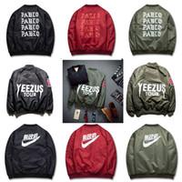 Wholesale Air Breast - 2016 Spring Hip-Hop Street Kanye West Yeezus Ma1 Pablo Bomber Jacket Homme Season 3 Air Force One Fbi Jacket Men