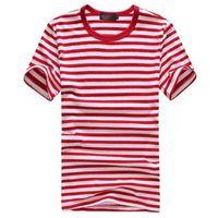 Wholesale Wholesale Mens Striped Shirts - Wholesale- HOT fashion summer shirts for men 2016 new men short sleeve shirt for men o neck t shirt mens tee shirt 3color M-XXL MT365
