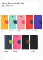 Wholesale Iphone 4s Fancy Case Leather - for iphone 4 4s 5 5s 5c 6 6s 6 plus 7 7 plus galaxy s4 s5 s6 s6 edge s7 Mercury Fancy Diary Wallet Stand Leather Case COVER 600pcs DHL Free