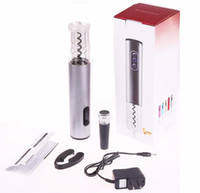 Wholesale bottle opener kits resale online - US Plug Rechargeable Electric Wine Opener Kit Automatic Wine Bottle Opener Cordless With Foil Cutter and Vacuum Stopper
