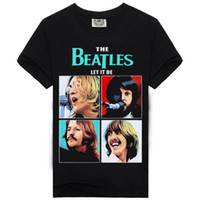 Wholesale Beatles Style - Rock Music Beatles Character New Arrival Style Fashion Men's T Shirt Cotton Amazing Pattern Printed Hip Hop Tees