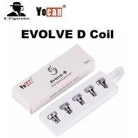 Wholesale Tank For Cigarette Electronic - Original Yocan Evolve D Dual Coil For Evolve D Kit Vaporizer Replacement Coil Head Electronic Cigarettes vs Innokin T18 T22 Tank Coil
