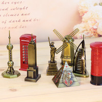 Wholesale The world famous buildings iron tower windmill model vintage metal crafts Bar Cafe Home Furnishing ornaments give gifts creative model toys