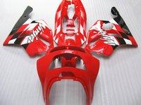 1996 kawasaki ninja zx6r großhandel-Heißer verkauf kunststoffverkleidung kit für Kawasaki Ninja ZX6R 1994-1997 rot schwarz motorrad verkleidungen gesetzt zx6r 94 95 96 97 OT33