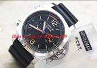 Wholesale Mechanical Chrono - PAM526 REGATTA 47mm TITANIUM CHRONO FLYBACK 1950 00526 Ltd Ed Silver Automatic Men's Watch Watches