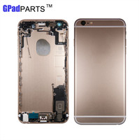Wholesale Iphone Testing Cable - 100% Tested For iPhone 6S plus 5.5 Full Housing Metal Back cover Chassis with Assembly+Flex Cable+Card tray Grey Silver Rose gold Gold
