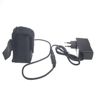 Wholesale Lithium Bike Battery Packs - 8.4V 18650 Bike Light Battery Pack 6400mAh 4x18650 Headlight Lamp Battery Power for CREE XM-L LED Bicycle Lights With EU Charger