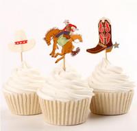 Arreglos Para Baby Shower Vaquero.Western Cowboys Cupcake Toppers Party Kids Baby Despedida De Soltera Cumpleanos Pais Boda Comida Selecciones Tratar Decoracion De Fiesta Suministros