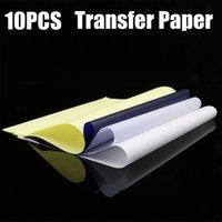 Wholesale Tatoo Papers - 10PCS Spirit Tattoo Transfer Paper A4 Size Tatoo Paper Thermal Stencil Carbon Copier Paper Tattoo Supply