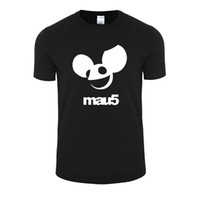 Wholesale Relaxed T Shirt - Wholesale- 2017 printing Deadmau5 rock band with large size t-shirt men's casual relaxed