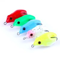 Wholesale artificial bait for sale - Original Hengjia Fishing Lures Soft Ray Frog Lure Body Baby Mouse Toad Artificial Plastic Fishing Tackle CM G Box Pack