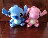 peluche de point rouge achat en gros de-Hot Sale 2pcs / Lot Cute Lilo Stitch Red Blue Stitch Peluche Peluche Jouets Lovely Toys Peluche Animaux Pour Cadeaux Enfant