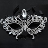 Wholesale bridal masks for sale - Group buy 2017 Silver Tone Venetian Bridal Masquerade Rhinestone Crystal Eye Mask Halloween Fancy Dress Ball Party Mask