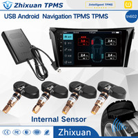 Wholesale Wholesale Navigation Systems - Android DVD navigation USB tire pressure monitor system TN602 car original audio alarm APP backgound real-time monitoring internal sensor