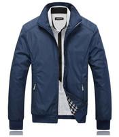 siyahlar dış giyim toptan satış-Güz-Ceket Erkekler Siyah Palto Casual Ceketler Mens açık Rüzgarlık ceket jaqueta masculina veste homme marka giyim Artı Boyutu M-5XL
