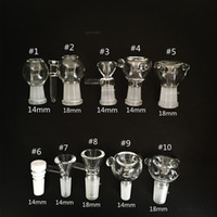 Wholesale Funnel Bowl - Glass Slides Bowl Pieces Bongs Bowls Funnel Rig Accessories Ceramic Nail 18mm 14mm Male Female Heady Smoking Water pipes dab rigs Bong Slide