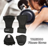 Wholesale TOMSHOO Unisex Weightlifting Gloves with Wrist Wrap Hand Grip Pads Bundle Set for Men and Women in Fitness Bundle Y3547x