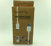 Wholesale Galaxy S3 Led - New V8 Micro Charger USB Cable Date line Sync Charging Cord Lead cables 1m 3ft with retail box for Samsung Galaxy S3 S4 Note 2 S5 S6 S7 edge