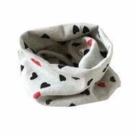 Wholesale Scarf Bibs - Wholesale- Baby Bib Cotton Scarf Bandana Bibs Kids Burp Cloths Childrens Scarves Autumn Winter Boys Girls Ring Collar Christmas Gift #2358