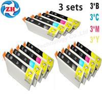 Wholesale Epson T1291 Cartridge - compatible for Epson WF-3010DW WF-3520DWF WF-3530DTWF WF-3540DTWF WF-7015 WF-7515 printer 12 Ink cartridges T1291 T1292 T 1293 T1294
