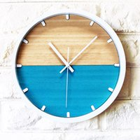 Wholesale modern contemporary decor - Wholesale- wall clock Contracted and contemporary alarm Original clock mute wall modern design Rural creative personality home decor t4