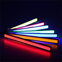 Wholesale Led Strips For Autos - Waterproof LED 12V Daytime Running Light COB Strip Lamp Fog Car 17cm Auto Lamp Universal for all Car Models QPU0004