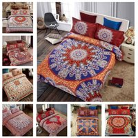 Wholesale 4 Set Bohemia modern bedding Luxury Quilt Set flower D printing Bohemia bedding cotton bed linen bedding