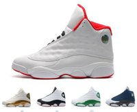 Wholesale White Thread China - [With Box]2018 New Air Retro 13S China mens basketball shoes top quality outdoor sports shoes for men Sneakers US 8-13 Free Drop Shipping
