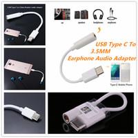 adaptateur usb audio féminin achat en gros de-Adaptateur USB Type-C à 3.5 mm Haut-parleur Audio Femme Écouteur Microphone Casque Jack Câble Covertor Pour Xiaomi 6 Huawei P9 LeEco Pro 3 Le 2