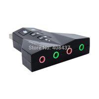 Wholesale Virtual Desktop - External USB Sound Card Virtual 7.1 Channel Cartoon Audio Adapter For Laptop Desktop With Dual Input Output Port Mute With Volume Control