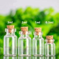 Wholesale Small Stopper Bottles - Glass Bottle With Cork Multi Standard Drift Vial Wishing Bottles Empty Transparent Small Phial Stopper Packaging Vials Hot Sale 0 25ym D