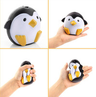 Wholesale toy sweets for sale - Group buy Jumbo Squishy Penguin Kawaii Cute Animal Slow Rising Sweet Scented Vent Charms Bread Toy Relieves Stress Anxiety Toy KKA2438