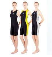 Wholesale Mixed Girls Swimsuits - HXBY Women Girls Colorful One Piece Fastskin Sport Competition Racing Technical Full Knee Length Swimwear Swimsuit-514