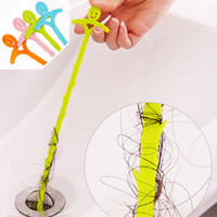 Wholesale House Pipes - Folding Pipe Cleaner Cleaning hook sink bathroom sewer floor drain dredge device small tools House Creative PP Cleaning Hook