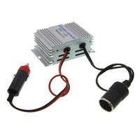 Wholesale Inverter Chargers Portable Power Supplies - Wholesale- High Quality DC 24V To DC 12V 10A Portable Car Power Inverter 120w DC Power Supply Car Converter Transformer With Car Charger