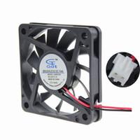 "Wholesale Pc Cooler Fan Cpu - Wholesale- Gdstime 2 pcs lot DC 24V Fan Cooler 60mm 60x60x10mm 6010S 2 Pin PC Case CPU Motor Cooling Radiator 2.4"""