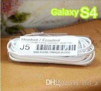Wholesale Earphone Galaxy Note - J5 Earphone for Samsung Galaxy S4 S5 3.5mm flat noodle Headphone Color Headset Earbuds With mic Remote Control for NOTE 3 4