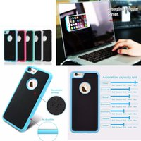 Wholesale anti gravity case car resale online - Anti Gravity Cases For iPhone s Plus s se Plus Samsung s7g s8 s8plus note4 Magical Anti gravity Nano Suction Cover Adsorbed Car