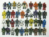 Wholesale finish packing - lot 15PCS random Mega Bloks Halo quality Action Figure game's toy collector pack