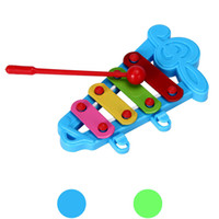 Wholesale Baby Instruments Xylophone - Baby Kid 4-Note Xylophone Musical Toys Wisdom Development musical instruments for children brinquedos drum