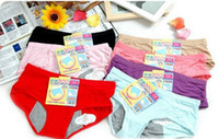 Wholesale Menstrual Pants - Wholesale-High Quality Women's Sexy Cotton Night Menstrual Underwear Health Physiology Period Leakproof Pants Free shipping