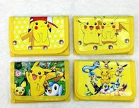 Wholesale Pokemon Coins - Poke go Pikachu canvas wallet bags 4 Style Children Poke Ball Sylveon Pikachu Charmander Bulbasaur Jeni turtle wallet coin purse A 080