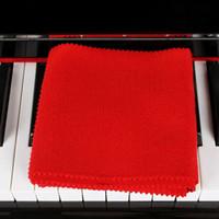 klavye renkleri toptan satış-Yüksek Kaliteli Yumuşak Yün Piyano 88 Klavyeler Koruyucu Kir geçirmez Kapak Dayanıklı Renk Kırmızı Piyano Toz Kapağı