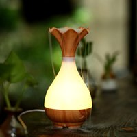 Ultrasonic Humidifier USB Humidistat Wholesale High Quality Vase Humidifier Essential oil diffuser with big mist and led night light DHL Free Shipping