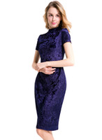 Wholesale Hot Dinner Dresses - Hot women party dress bodycon pencil dress dinner lady clothes round neck short sleeve knee-length ML-8008